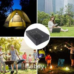 200Wh 3.7V 42000mAh AC Outlet Portable Power Bank Generator USB Laptop CPAP