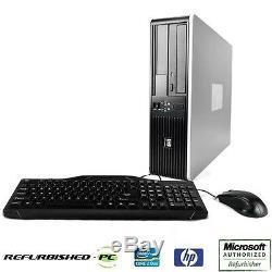 Best Value! Fast HP Desktop Computer PC Core 2 Duo WINDOWS 10 Keyboard Mouse