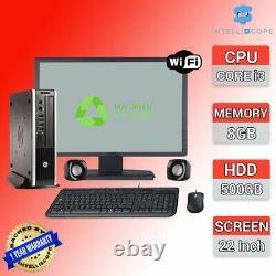 Computer Set PC DELL HP 22 TFT i3 Desktop SFF 8GB RAM 500GB HDD WINDOWS10 WiFi