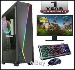 FAST GAMING PC Core i5 Desktop Computer TFT 8GB RAM 1TB HDD Win 10 GT710 WiFi