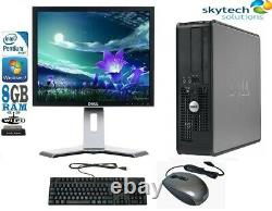 FULL DELL HP DUAL CORE DESKTOP TOWER PC & TFT Cheap COMPUTER WINDOWS 10 8GB 1TB