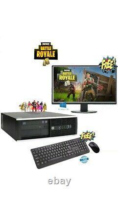 Fast Gaming PC Computer SET Quad Core i5 16GB 120GB SSD + 1TB Win 10 GT710 WiFi