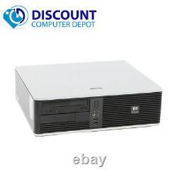 Fast HP DC Windows 10 Desktop Computer Tower Core 2 Duo 4GB DVD HD Wifi 17 LCD