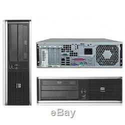 Fast HP Desktop Computer Intel Processor 4GB 160GB 17 LCD DVD Wifi Windows 10