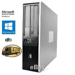 Fast HP Desktop PC Computer Dual Core 3.4Ghz 8GB 2TB Windows 10 Pro WIFI KEY+MS
