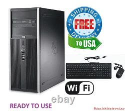 Fast HP Desktop PC Computer Tower Intel Dual Core 8GB 2TB HDD WIFI Windows 7 Pro