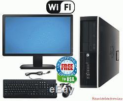 Fast HP Desktop PC Computer i5 3.2Ghz 8GB 2TB Windows 10 Pro WIFI Monitor Bundle