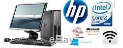 Fast HP Desktop Pc Tower Quad Core 1 TB HDD 8GB Ddr2 19 Monitor Wi-Fi Window 10