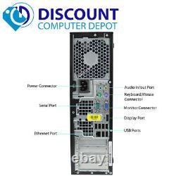 Fast HP Elite Desktop Computer Windows 10 PC Intel Core i3 3.2GHz CPU 4GB 500GB