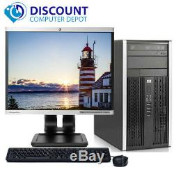 Fast HP Pro Desktop Computer Tower Dual-Core 2.8GHz 4GB 160GB 17LCD Win 10 Home