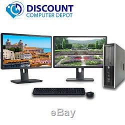 Fast HP Pro Desktop Computer i3 3.1GHz 4GB 250GB Dual 17 LCD's Windows 10 Pro