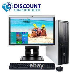 Fast HP Windows 10 Desktop Computer PC 2.5GHz 4GB 160GB DVD 19 LCD
