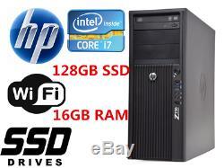 Fast HP Z210 MT Desktop computer Intel i7 16GB RAM 128GB SSD+1TB HDD Win10 WIFI