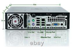 Fast Slim PC HP 8200 USFF Mini Desktop Computer Core i5 4GB 250GB DVD Win10 Home