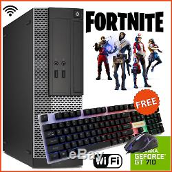 GAMING PC FAST i5 DELL HP BUNDLE WiFi COMPUTER INTEL 8GB 500GB GT710 Fortnite