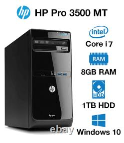 Gaming PC COMPUTER DESKTOP HP pro 3500 MT i7 8GB 2TB Windows10 WIFI GT 1030