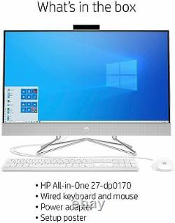 HP 27 Touchscreen i5-1035G1 12GB 512GB SSD W10 All-in-One Desktop Computer