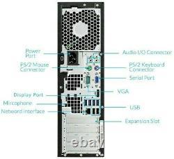 HP 6200 Desktop Computer 8GB RAM 250GB HDD Intel Quad Core i5 Windows 10 PC WiFi
