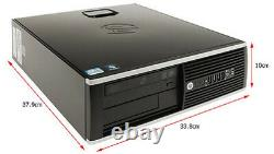 HP 8200 Elite 250GB Win 7 Professional I5 Quad Core up to 3.4GHz 8GB Desktop PC