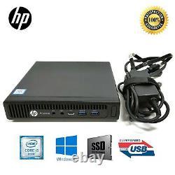 HP Desktop 600G2 MINI i5-6600T 6th 8GB 128GB/256GB/512GB SSD Win10 Home Wifi