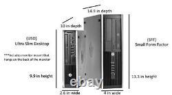 HP Desktop Computer32GB 2TB SSD Quad Core i7 Win 10 Pro PC 24 Dual LCD Wifi