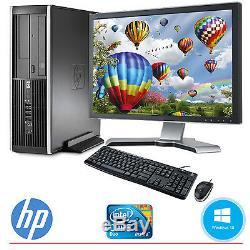 HP Desktop Computer PC Core 2 Duo 4GB 160GB HD Windows 10 & 19 LCD Monitor WIFI
