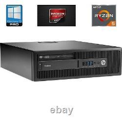 HP EliteDesk 705 G3 SFF Desktop AMD Ryzen 3.5GHz Quad-Core 8GB 256GB SSD Win10P