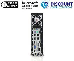 HP Elite Ultra Slim Desktop Computer 4GB RAM 500GB HD Windows 10 Home PC WIFI