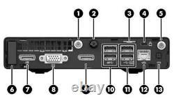 HP Elitedesk 800 G2 Mini i5-6500T 2.5GHz 16GB DDR4 256GB SSD WIN10 WIFI