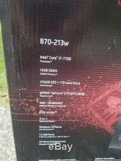 HP OMEN GAMING Desktop Core i7 16GB RAM, 1TB + 256GB NVIDIA GeForce GTX 1070