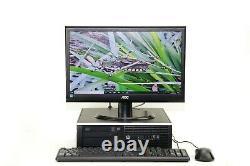 HP PC SET quad i5 500GB HDD 8GB 22 MONITOR WINDOWS 10 PRO wi-fi