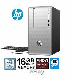 HP Pavilion 590 Intel Core i7-8700 6-Core 16GB 2TB HDD AMD Radeon 2GB Win 10 PC