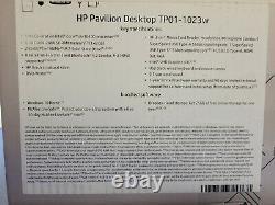 HP Pavilion Desktop PC Intel Core i5, 256GB SSD, 8GB DDR4, Win10 TP01-1023w NEW