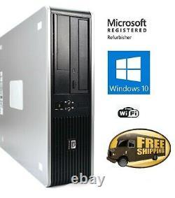 HP Pro Desktop Computer Intel Core 2 Duo 4GB 500GB Windows 10 WiFi and 22 LCD
