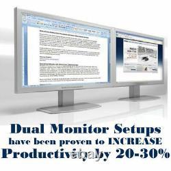 HP Windows 10 Computer PC 2 LCD Monitors HD Quad Core i5 Desktop CPU 3.1GHz Wifi