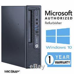 HP Windows 10 USFF Computer PC Quad Core i5 WiFi 8GB 512GB SSD WiFi 4k Support