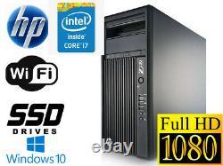 HP Z230 MT Workstation Intel i7-4790 3.60Ghz 8GB 480GB SSD Q600 Win 10 Pro