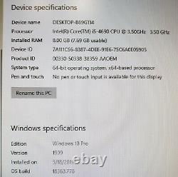 HP Z230 Tower PC Core i5-4690 CPU 3.50GHz 8GB RAM 1TB HDD WIN 10 Pro