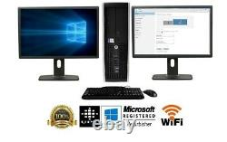 HP or Dell Desktop Computer 16GB 2TB 512GB SSD Core i5 Windows 10 PC 24 22 LCD