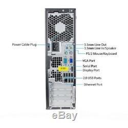 Hp Desktop PC Computer Core 2 Duo 500GB, 4GB DUAL 19 Wide LCDs WiFi Windows 10