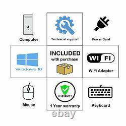 Hp Pro SF Desktop Pc 8Gb RAM Huge 2Tb HDD Dvd WiFi Windows 10 Computer