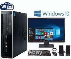 Lightning Fast HP i5 3.2Ghz Windows 10 Pro Desktop PC Computer 8GB 1TB WiFI