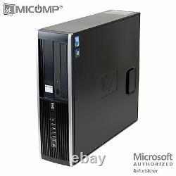 MICOMP HP Windows 10 Desktop Computer PC 4GB RAM 250GB HDD Dual 19 LCD Monitor