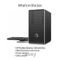 NEW HP Pavilion Desktop PC Intel i3-8100 16GB Optane 4GB RAM 1TB HDD DVD Win 10