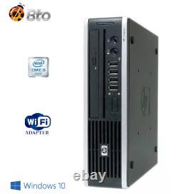 Slim Fast PC HP 8200 USFF Mini Desktop Computer Core i5 4GB 500GB DVD WiFi Win10