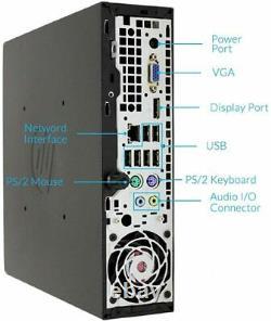 Slim Fast PC HP 8200 USFF Mini Desktop Computer i5-2rd 16GB 500GB DVD Win10 Pro