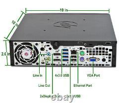 Slim Fast PC HP 8300 USFF Mini Desktop Computer Core i5 4GB 500GB DVD WiFi Win10